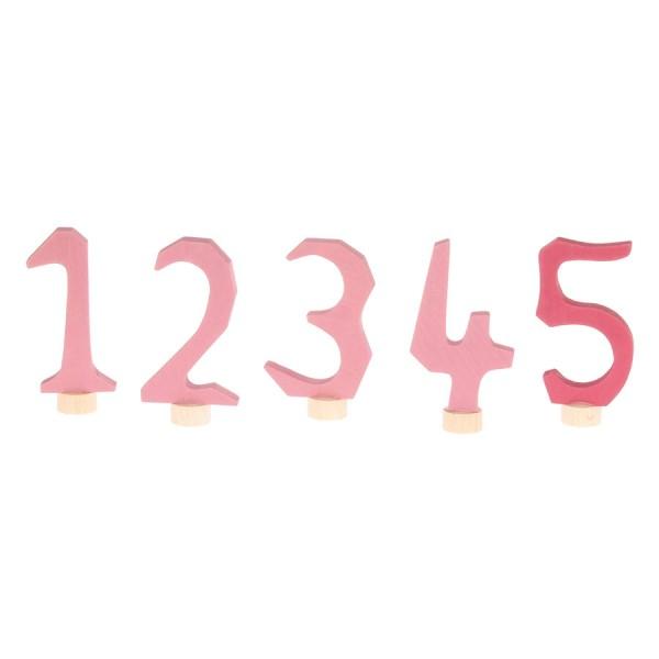 Grimms Zahlenstecker Set 1-5 rosa