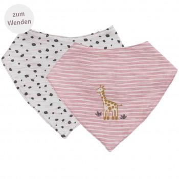 Wende Dreiecktuch Giraffe rosa