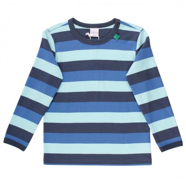 Griffiges Langarmshirt Blockstreifen blau