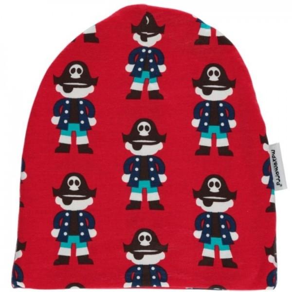 Warme gefütterte Beanie Mütze elastisch coole Piraten