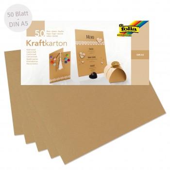 Kraftkarton DIN A5 50 Blatt beige