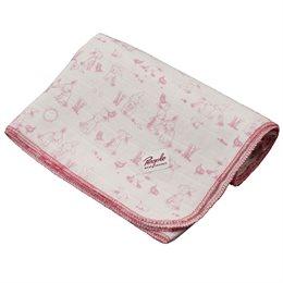 Bio Mulltücher Mullwindel koralle/rosa 70x80