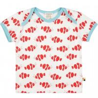 Kurzarm Shirt Fische rot