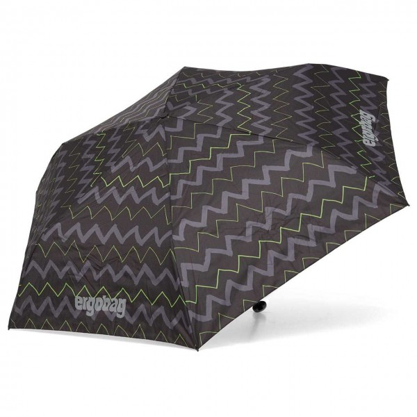 Kinder Regenschirm schwarz/grün Wellen