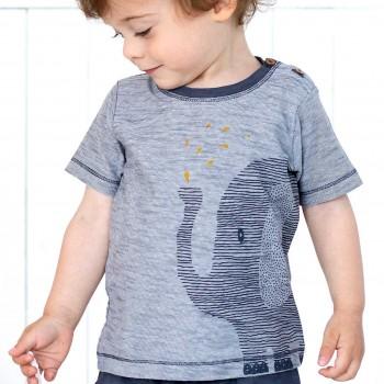 T-Shirt grosser Elefant anthrazit melange