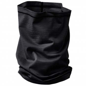 Schlauchschal 2in1 Unisex Wolle Seide schwarz