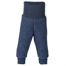 Woll Fleece Hose Softbund blau marine