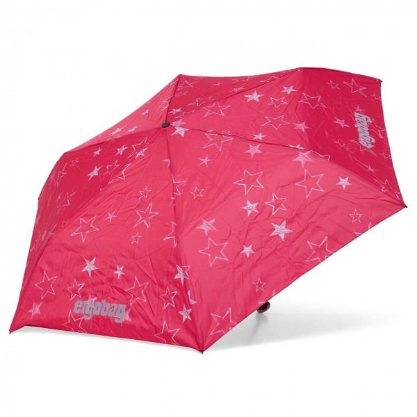 Kinder Regenschirm pinke Sterne