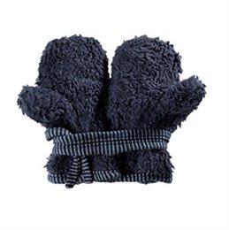 Bio Teddyplüsch Baby Handschuhe - marine