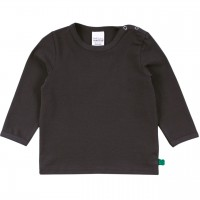 Dehnbares Basic Langarmshirt in dunkelgrau