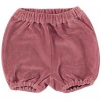 Warme, lockere Velour Shorts rosa