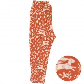 Dehnbare Leggings Häschen orange