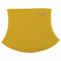 Schlauchschal aus Schurwolle Fleece gelb