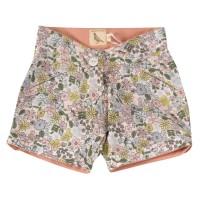 Robuste Shorts Blumen-Design grün