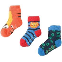 Socken mit gutem Sitz 3er Pack Tiger
