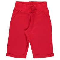 Sweat Shorts knielang - cool, sommerlich und robust rot