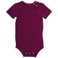 Kurzarm Body Bio bordeaux