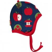 Babymütze gefüttert Nicki Äpfel marine