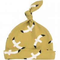 Babymütze mit Knoten Möwen grün