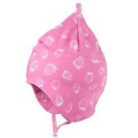 Leichte Babymütze doppellagig - Erdbeere pink