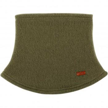 Loopschal Wolle Fleece moos-grün