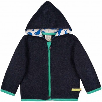 Warme Jacke Fleece navy