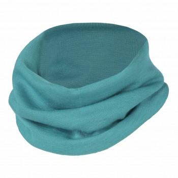 Wolle Seide Schlauchschal blau 3-10 Jahre