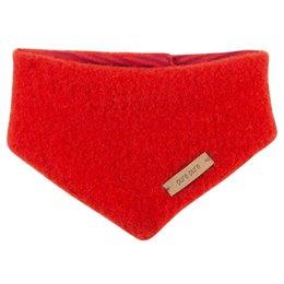 Dickes Wolle Halstuch mit Druckknopf rot
