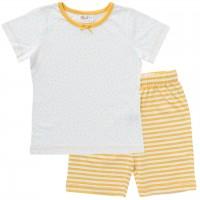 Schlafanzug leicht Shorts und Shirt Punkte