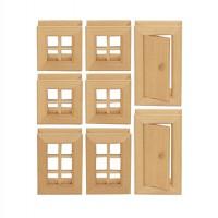Vorschau: Fenster & Türen 8-tlg. Baukasten System - freies Bauen & kons