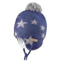 Kuschelige Winter Baby Mütze Sterne