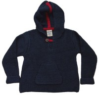 Wolle Biobaumwolle Pullover marine