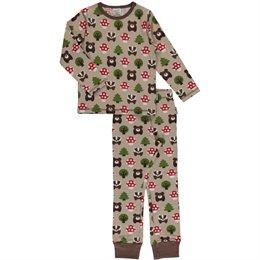 Waldtiere Schlafanzug normal dünn und elastisch