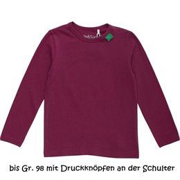 Glattes dehnbares Basic Shirt für Mädchen - wine