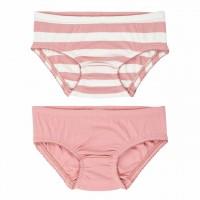 Doppelpack Slips rosa Streifen