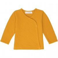 Wickeljacke  Strick-Jersey  senf-gelb