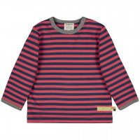Dickeres Jersey Shirt melone/dunkelblau langarm