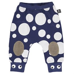 Coole Krabbelhose navy dot