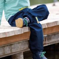 Leichte robuste Bio Kinderhose marine
