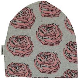 Rosa Rosen Beanie grau leicht