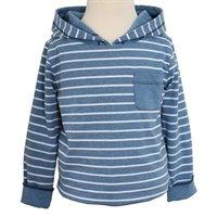 Vorschau: Dickeres Langarmshirt zum Wenden– edel & soft - blau