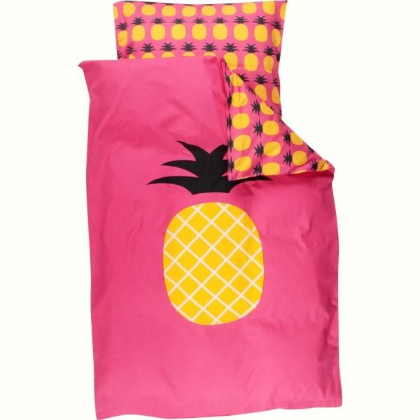 Bio Bettwäsche SET klein & groß - Ananas