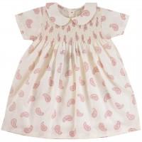 Hochwertiges Kleid mit Kragen Paisley-Muster