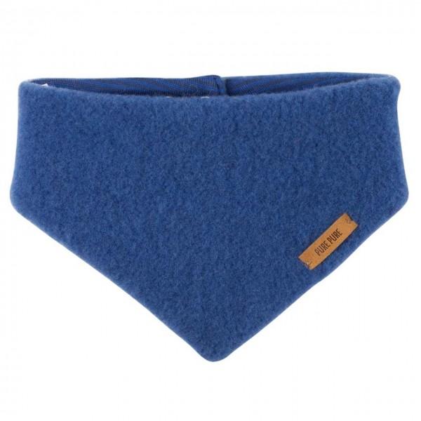 Dickes Wolle Halstuch mit Druckknopf blau