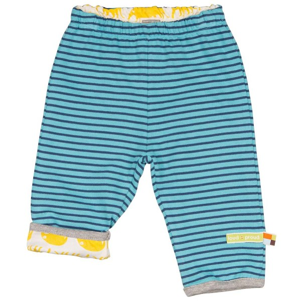 Wendehose doppelllagig blau mit gelben Nasenbären