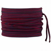 Wolle Seide 3in1 Schlauchschal Beanie blau-rot
