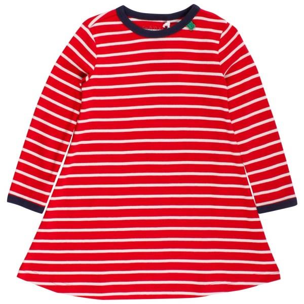 new product 8f9fd 630c5 Langarm Kleid gestreift rot weiss
