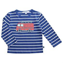 Feuerwehr Auto Baby T-Shirt royal blau