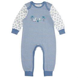 Bio Babystrampler langarm - Fairtrade & GOTS - blau