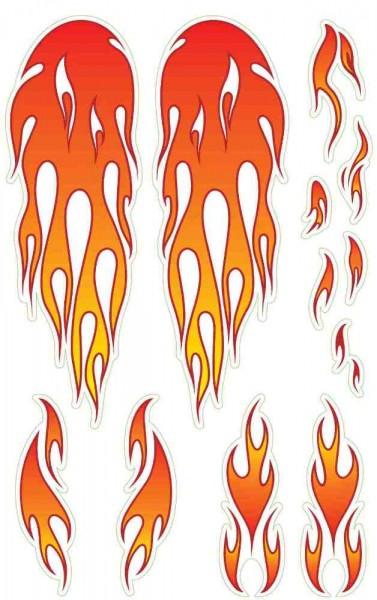 """Sticker """"Flamen"""" für Wishbone Holz Bikes"""